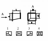 Переход с прямоугольного сечения на прямоугольное из оцинкованной стали
