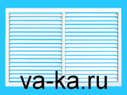 Решетка радиаторная 600х300 белая горизонтальная