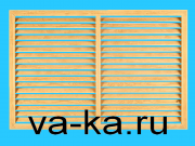 Решетка радиаторная 600х300 дуб горизонтальная