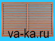 Решетка радиаторная 600х300 вишня горизонтальная