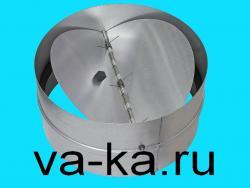 Обратный клапан D=200mm из оцинкованной стали