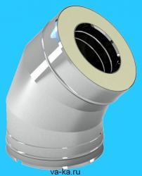 Отвод 45° из нержавеющей стали 0,5 D=120/200