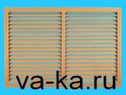 Решетка радиаторная 600х300 бук темный горизонтальная