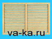 Решетка радиаторная 600х600 дуб