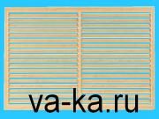 Решетка радиаторная 600х600 дуб старый